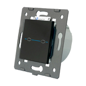 Passing touch light switch Q-SERIES to control 2 lighting zones